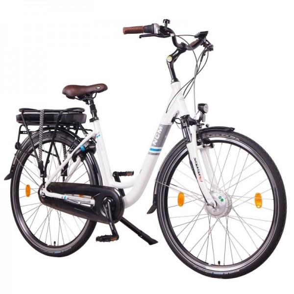"""NCM Munich N8C 28"""" City E-Bike mit Rücktrittbremse, in anthrazit und weiß"""
