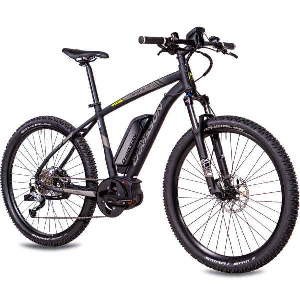 CHRISSON E-MOUNTER 1.0 9 Gang BOSCH Gen3 Powerpack400 27,5 Zoll E-Mountainbike schwarz matt