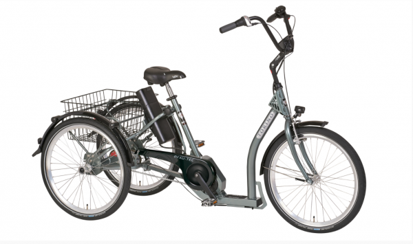 "PFAU-TEC Elektro-Shoppingrad ""Torino"" Mod. 21 - Tiefeinsteiger, 24 / 24"", highland grey, 7-Gang SHIM"