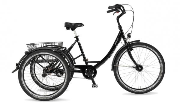 "PFAU-TEC Shoppingrad ""Proven"" Mod. 22 Wave, 26 / 24"", schwarz, 3-Gang SHIMANO ""Nexus"" RBN, 48cm"