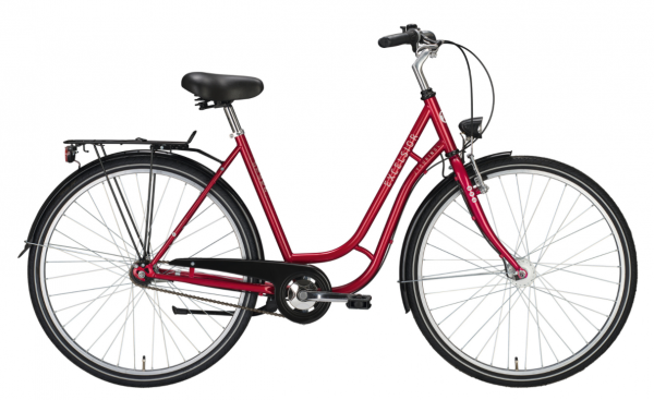 """EXCELSIOR Cityrad """"Touring ND"""" Mod. 21 28"""", red metallic, 1-Gang RBN, 53cm"""
