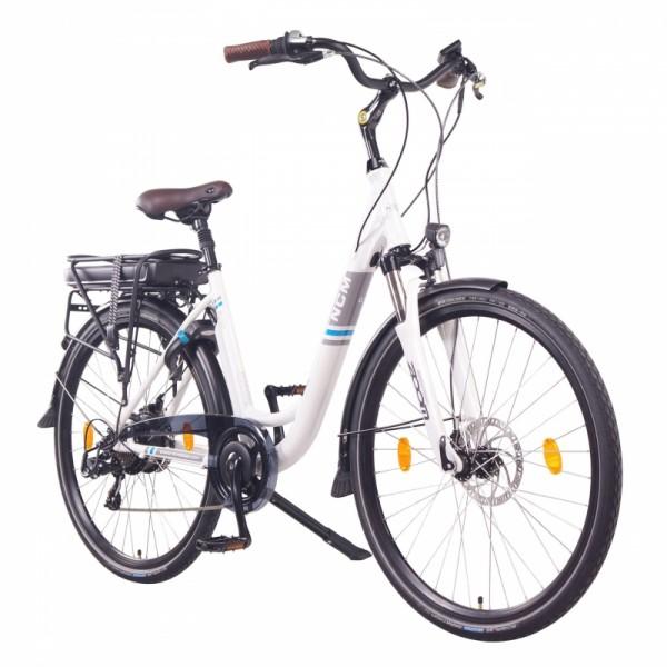 """NCM Munich 28"""" E-Bike, Citybike, 36V 13Ah 468Wh Akku, weiß"""